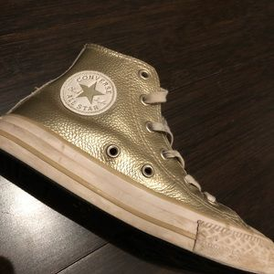Converse Kids GOLD sneakers / high tops / runners